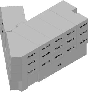 17 Appartementen 3D voor