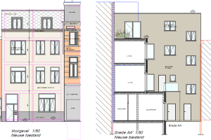 appartementen beschaduwing plan