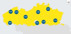 Opbrengst van zonnepanelen per provincie - MijnEPB