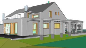 Nieuwbouw ééngezinswoning 3D Sketchup MijnEPB