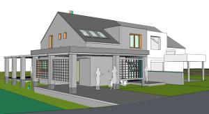 Nieuwbouw ééngezinswoning 3D Sketchup