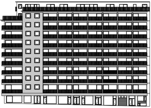 Voorgevel EPB berekening appartementsblok-min