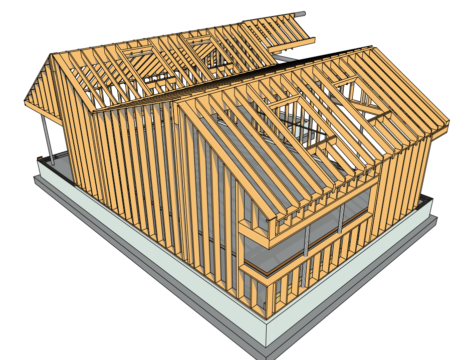 Houtskelet onderzoekscentrum EPB II-min