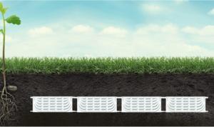 Horizontale warmtewisselaar collector onder gras MijnEPB-min